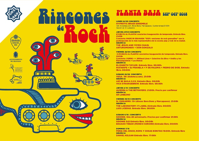 Programación Rincones del Rock sep-oct 2018